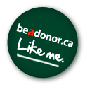 """be a donor. ca """"Like Me"""" badge"""