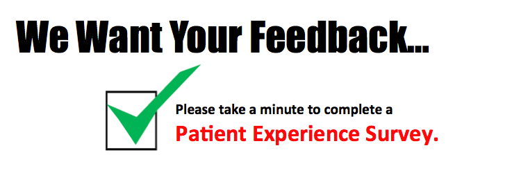 We want your feedback.  Click here to complete our survey