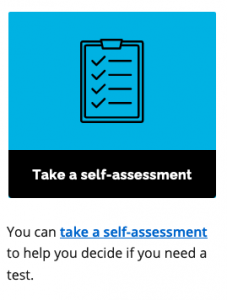 Take a self assessment to help you decide if you need a COVID test